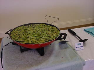 Photo of edamame cooking